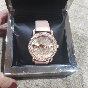 Bebe blush and rose gold watch